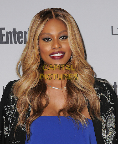 16 September 2016 - West Hollywood, California. Laverne Cox. 2016 Entertainment Weekly Pre-Emmy Party held at Nightingale Plaza. <br /> CAP/ADM/BT<br /> &copy;BT/ADM/Capital Pictures