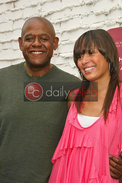 Forest Whitaker and Keisha Whitaker<br />