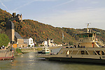 Ferry boat on the Rhine River, France