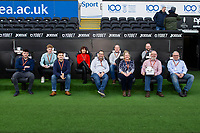 Match ball sponsors during the Sky Bet Championship match between Swansea City and Derby County at the Liberty Stadium in Swansea, Wales, UK. Saturday 08 February 2020