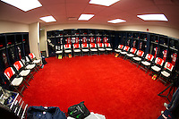 Sandy, Utah - Saturday, September 13, 2014: The USWNT locker room prior to their International friendly match vs Mexico at Rio Tinto stadium.