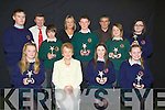 STUDENTS: Students who were presented with their awards at Causeway Comperhensive Secondry School with their teachers on Thursday evening: Front l-r: Gloria Keane (5th year), Helen Twomey (Teacher), Sharon McMahon (5th year) and Emily Keane.Centre l-r: Aidan Wynne, Christopher Mulvihill(1st year), Barry Horgan, Amylee Robinson (2nd year) and Chloe Hanlon (6th year). Back l-r: Tim Leahy, Gillian Dowling and Johnny Griffin(teachers).................................................................... ........