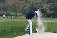 Dylan Frittelli (RSA) plays out of a bunker on the 6th fairway during Round 4 of the UBS Hong Kong Open, at Hong Kong golf club, Fanling, Hong Kong. 26/11/2017<br /> Picture: Golffile | Thos Caffrey<br /> <br /> <br /> All photo usage must carry mandatory copyright credit     (&copy; Golffile | Thos Caffrey)