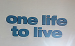 One Life To Live sign at studio on the last day of shooting of The Soap Opera One Life To Live at the One Life To Live Studio on November 18, 2011, New York City, New York. (Photo by Sue Coflin/Max Photos)