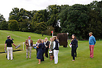 Capt. Mark Phillips discusses the Cross Country Course during the Media Day held ahead of the 2014 Land Rover Burghley Horse Trials