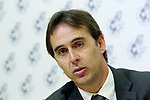The coach of the national soccer team of Spain, Julen Lopetegui during the signing of the renewal of his contract until 2020. May 22,2018. (ALTERPHOTOS/Acero)