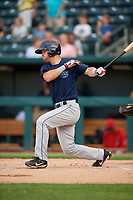 Mobile BayBears Jack Kruger (10) at bat during a Southern League game against the Jacksonville Jumbo Shrimp on May 28, 2019 at Baseball Grounds of Jacksonville in Jacksonville, Florida.  Mobile defeated Jacksonville 2-1.  (Mike Janes/Four Seam Images)