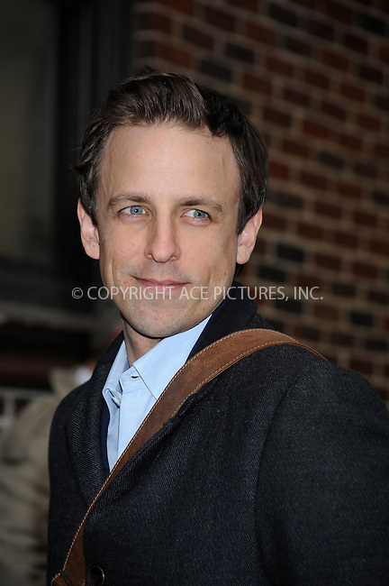 WWW.ACEPIXS.COM . . . . . ....January 27 2009, New York City....Actor Seth Meyers made an appearance on the 'Late Show with David Letterman' on January 27 2009 in New York City....Please byline: KRISTIN CALLAHAN - ACEPIXS.COM.. . . . . . ..Ace Pictures, Inc:  ..tel: (212) 243 8787 or (646) 769 0430..e-mail: info@acepixs.com..web: http://www.acepixs.com