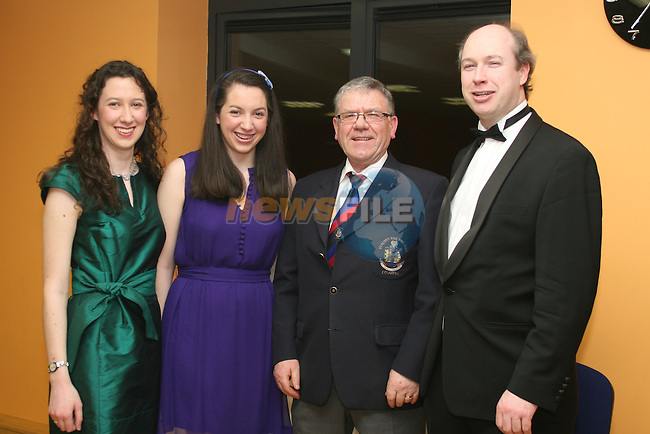 Aine and Aisling Nic An Ríogh with Donal Black and Edward Holly at the Opening Gala Night at the Barbican in aid of Cystic Fibrosis...Photo NEWSFILE/Jenny Matthews.(Photo credit should read Jenny Matthews/NEWSFILE)....This Picture has been sent you under the condtions enclosed by:.Newsfile Ltd..The Studio,.Millmount Abbey,.Drogheda,.Co Meath..Ireland..Tel: +353(0)41-9871240.Fax: +353(0)41-9871260.GSM: +353(0)86-2500958.email: pictures@newsfile.ie.www.newsfile.ie.FTP: 193.120.102.198.