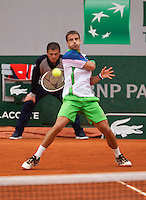 France, Paris, 30.05.2014. Tennis, French Open, Roland Garros, Tommy Robredo  (ESP)<br /> Photo:Tennisimages/Henk Koster