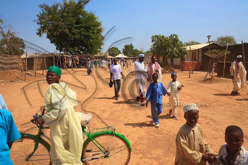 The entrance to the mosque on Friday. Adamawa, dominated by the Fulani, is mostly Muslim.