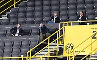 16th May 2020, Signal Iduna Park, Dortmund, Germany; Bundesliga football, Borussia Dortmund versus FC Schalke; FC Schalke 04 Boss  Clemens Tönnies , S04 Marketing , Alexander Jobst , S04 Peter Peters , S04 Manager Jochen Schneider