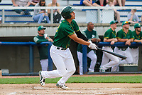 Beloit Snappers third baseman Edwin Diaz (12) swings at a pitch during a Midwest League game against the Peoria Chiefs on April 15, 2017 at Pohlman Field in Beloit, Wisconsin.  Beloit defeated Peoria 12-0. (Brad Krause/Four Seam Images)