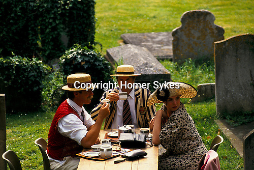 'HENLEY ROYAL REGATTA', TEA IS SERVED IN THE GRAVEYARD OF HENLEY CHURCH