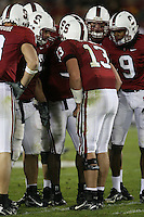 4 November 2006: T.C. Ostrander in the huddle during Stanford's 42-0 loss to USC at Stanford Stadium in Stanford, CA.