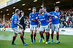 15.12.2019 Motherwell v Rangers: Alfredo Morelos scores for Rangers and celebrates