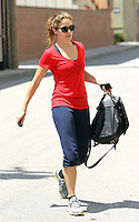 Nikki Reed cracks a smile while leaving the gym in Studio City. Los Angeles, California on 07.05.2012..Credit: Correa/face to face. / Mediapunchinc