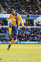 Krystian Pearce of Mansfield Town during the Sky Bet League 2 match between Wycombe Wanderers and Mansfield Town at Adams Park, High Wycombe, England on 25 March 2016. Photo by David Horn.