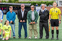 Boston, MA - Friday July 07, 2017: Tony DiCicco's former teammates serve as honorary captains for the game during a regular season National Women's Soccer League (NWSL) match between the Boston Breakers and the Chicago Red Stars at Jordan Field.