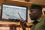 Senior radio operator John Tanui, radio control room, Lewa Conservancy, Kenya, September 2012