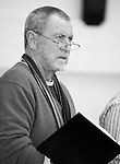 """King Lear"" rehearsed reading rehearsals. Old Vic Theatre. Director: Jonathan Miller. John Nettles."