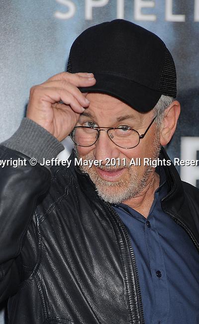 "WESTWOOD, CA - JUNE 08: Steven Spielberg  attends the ""Super 8"" Los Angeles Premiere at Regency Village Theatre on June 8, 2011 in Westwood, California."
