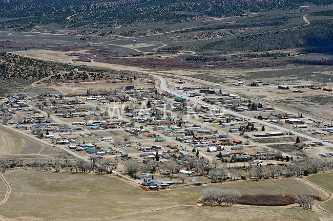 aerial of Fort Garland, CO