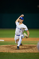 Dunedin Blue Jays relief pitcher Kyle Weatherly (35) during a Florida State League game against the Jupiter Hammerheads on May 15, 2019 at Jack Russell Memorial Stadium in Clearwater, Florida.  Dunedin defeated Jupiter 8-4 in nine innings, the second game of a doubleheader.  (Mike Janes/Four Seam Images)
