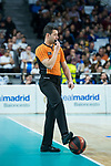 Referee Vicente Martinez during Real Madrid vs Kirolbet Baskonia game of Liga Endesa. 19 January 2020. (Alterphotos/Francis Gonzalez)