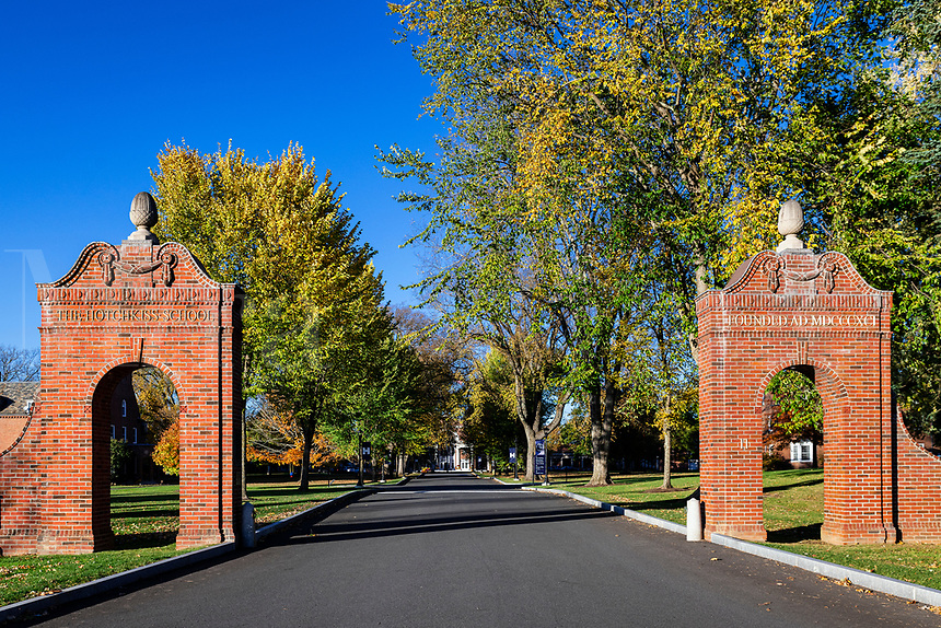 The Hotchkins School campus gates.