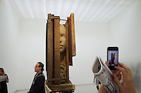 55th Art Biennale in Venice - The Encyclopedic Palace (Il Palazzo Enciclopedico).<br /> Giardini. Netherlands Pavilion.<br /> Mark Manders (Belgium).<br /> &quot;Working Table&quot;, 2012 - 13.