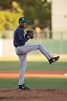 Seattle Mariners starting pitcher Raymond Kerr (69) during a Minor League Spring Training game against the Los Angeles Dodgers at Camelback Ranch on March 28, 2018 in Glendale, Arizona. (Zachary Lucy/Four Seam Images)