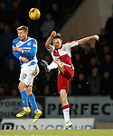 Clint Hill clears from David Wotherspoon