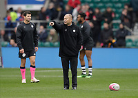 16th November 2019; Twickenham, London, England; International Rugby, Barbarians versus Fiji;  Barbarians Coach Eddie Jones giving direction to his players from the pitch before kick off - Editorial Use