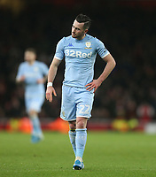 Dejection for Leeds United's Jack Harrison<br /> <br /> Photographer Rob Newell/CameraSport<br /> <br /> Emirates FA Cup Third Round - Arsenal v Leeds United - Monday 6th January 2020 - The Emirates Stadium - London<br />  <br /> World Copyright © 2020 CameraSport. All rights reserved. 43 Linden Ave. Countesthorpe. Leicester. England. LE8 5PG - Tel: +44 (0) 116 277 4147 - admin@camerasport.com - www.camerasport.com