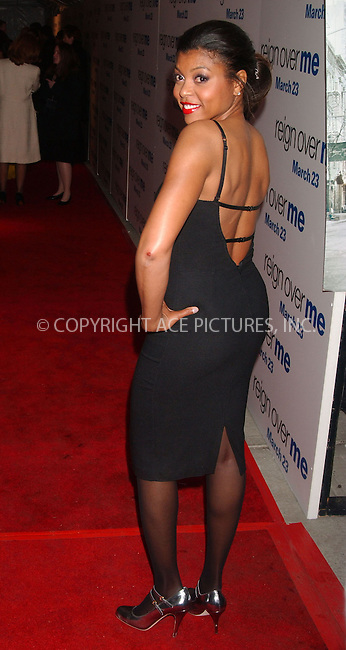 """WWW.ACEPIXS.COM . . . . .....March 20 2007, New York City....Taraji Henson attending the premiere of """"Reign Over Me"""" at the Skirball Center for the Performing Arts at New York University.....Please byline: Kristin Callahan - ACEPIXS.COM..... *** ***..Ace Pictures, Inc:  ..Philip Vaughan (646) 769 0430..e-mail: info@acepixs.com..web: http://www.acepixs.com"""