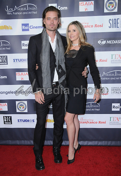 19 February 2017 - Hollywood, California - Christopher Backus, Mira Sorvino.  12th Annual Los Angeles - Italia Film Festival held at TCL Chinese 6 Theater. Photo Credit: Birdie Thompson/AdMedia