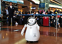 Japan's latest service robots are displayed at Haneda Airport