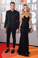 Josh Cuthbert &amp; Chloe Lloyd at the 2017 Brit Awards at the O2 Arena in London, UK. <br /> 22 February  2017<br /> Picture: Steve Vas/Featureflash/SilverHub 0208 004 5359 sales@silverhubmedia.com