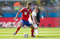 Bryan Ruiz of Costa Rica and Jack Wilshere of England