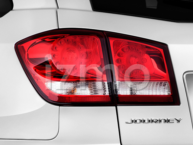 Tail light close up detail view of a
