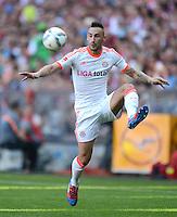 FUSSBALL   1. BUNDESLIGA  SAISON 2011/2012   33. Spieltag FC Bayern Muenchen - VfB Stuttgart       28.04.2012 Diego Contento (FC Bayern Muenchen)  am Ball