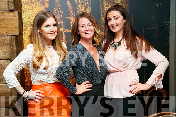 Jamie O'Sullivan, Nicole O'Sullivan and Kathleen Madigan, Castlemaine, enjoying a night out for Women's Christmas at No. 4 The Square, Tralee, on Friday night last.