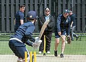 Cricket Scotland - Scotland train at Kent County cricket ground at Benkenham, ahead of two matches against Sri Lanka, on Sunday (tomorrow) and Tuesday - National Coach Grant Bradburn takes on his batsmen in the nets - picture by Donald MacLeod - 20.05.2017 - 07702 319 738 - clanmacleod@btinternet.com - www.donald-macleod.com