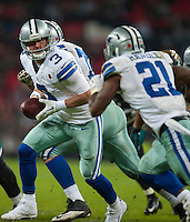 09.11.2014.  London, England.  NFL International Series. Jacksonville Jaguars versus Dallas Cowboys.  Dallas Cowboys' Quarterback Brandon Weeden (#3)