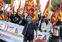 Roma, 2 Ottobre 2015<br /> Manifestazione di lavoratrici e lavoratori del settore pubblico del Comune di Roma contro la privatizzazione delle aziende municipalizzate.<br /> Corteo dal Colosseo al Campidoglio.<br /> Guido Lutrario.