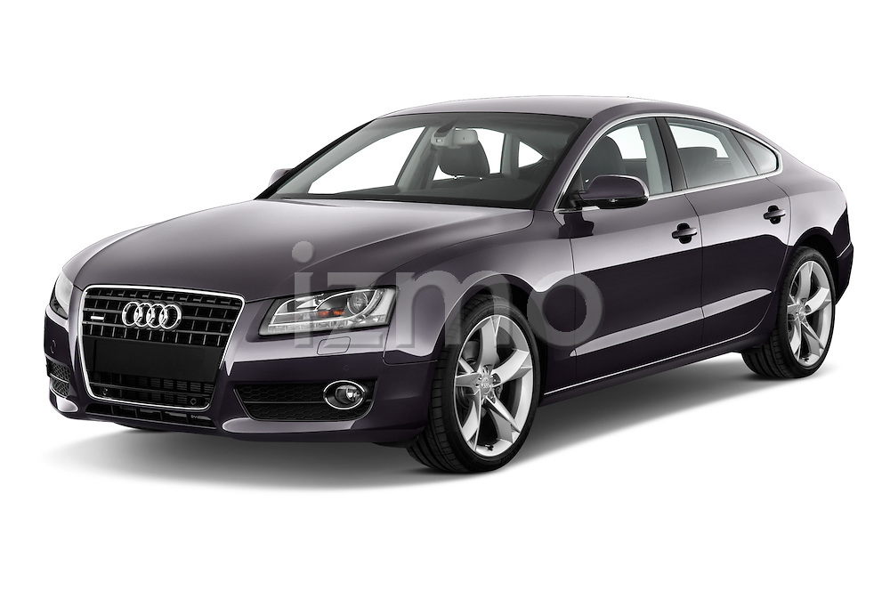 Front three quarter view of a 2009 - 2011 Audi A5 Ambition Luxe Sportback 5-Door Hatchback.