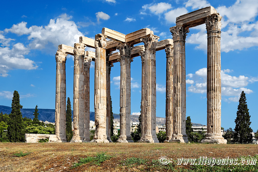 Olympieion (132 A.D.) in Athens, Greece