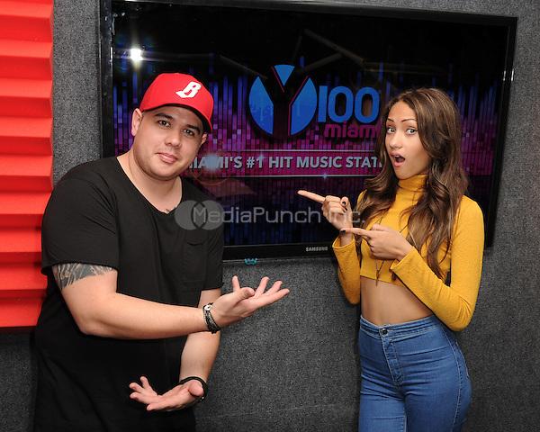 FORT LAUDERDALE, FL - DECEMBER 02: DJ Mack and Skylar Stecker at Radio Station Y-100 on December 2, 2015 in Fort Lauderdale, Florida. Credit: mpi04/MediaPunch