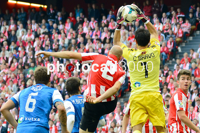 Football macht during La Liga BBVA.<br /> Athletic Club - Real Sociedad<br /> claudio bravo